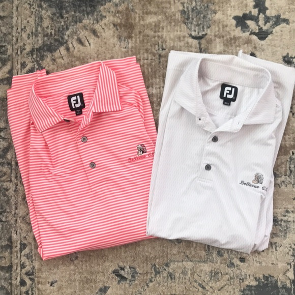 FootJoy Other - Foot joy golf polos lot of 2 large striped